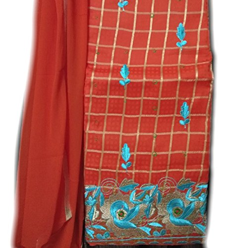 Rps Globe Traditional Beautiful and Attractive Orange Color Cotton Unstiched Salwar Suit...