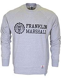 Franklin & Marshall Herren Sweatshirt Grau Grau