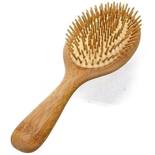 Image of Neverland Handmade wood Hair Brush Anti Static Detangling Massage Hair Comb Wooden Bristle Cushioned Organic Handmade Hairbrush with Giftbox
