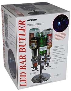 Maxim Led Bar Butler 6 Optics Drink Bottle Stand Holder Rotating With Light