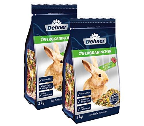 Dehner Premium Zwergkaninchenfutter, 2 x 2 kg (4 kg)