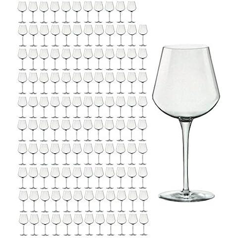 120er Set Bicchieri da vino Medium inalto 47cl in vetro cristallo di prima qualità, migliore resistenza alla rottura, design in filigrana