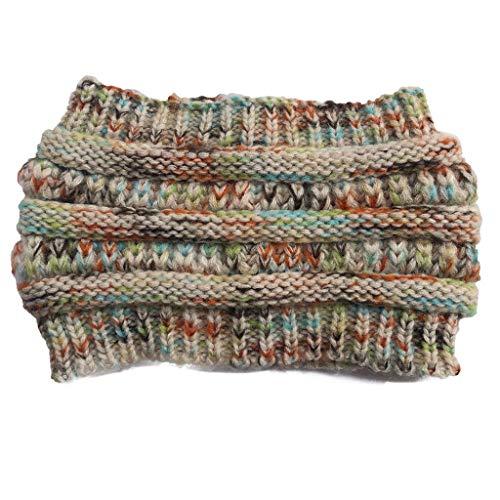 Inhaber Wärmer (LABIUO Damen Strick Stirnband,Mode Häkeln Häkeln Stirnband Hut Cap Ohr Wärmer Stirnband(Beige,One Size))