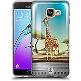 Head Case Designs Grande Girafe Faune Et Flore Dans Bocaux Étui Coque en Gel molle pour Samsung Galaxy A3 (2016)