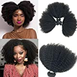 Brasiliano Afro Kinky capelli ricci 10-20inch 4B4C 1 Bundle 100g brasiliano Virgin Remy capelli umani tessitura naturale colore nero
