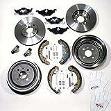 Autoparts-Online Set 60003168 Bremsscheiben + Bremsbeläge Vorne + Bremstrommeln + Bremsbacken + Rradbremszylinder + Zubehör Hinten