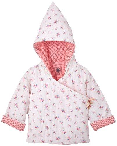 Petit Bateau Facile - Giacca con cappuccio per neonata, motivo floreale