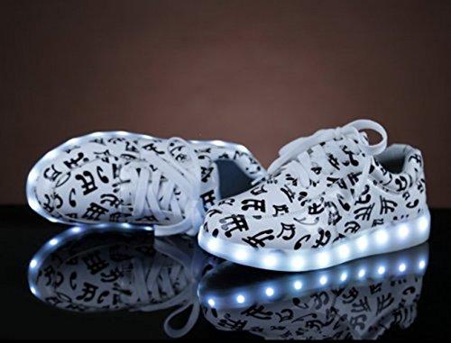 Sportschuhe Weiß Led Für Aufladen Sport Farbe present Handtuch Usb 7 kleines Unisex Leuchtend junglest Turnschuhe Schuhe Sneaker erwa F6W6SwCPq