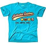 Siviwonder Unisex T-Shirt BOLONKA ZWETNA - OLD SCHOOL EDEL MUTIG TREU Hunde türkis L