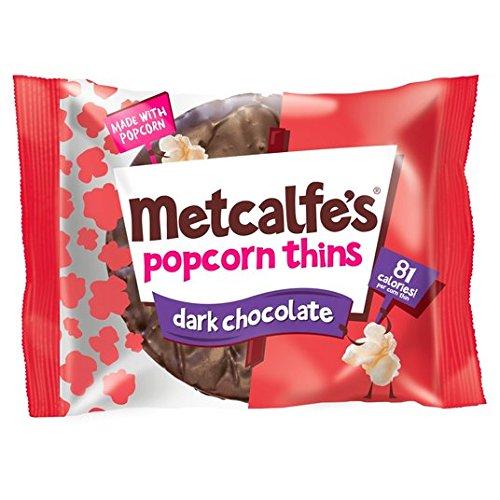 Metcalfe Dünne Dunkle Schokolade Popcorn Verdünnt 34g (Dunkle Schokolade-cracker)