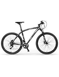 "Vélo VTT MBM Twentyseven.5 en aluminium, suspension avant, frein à disque, 27.5"", 27 vitesses"