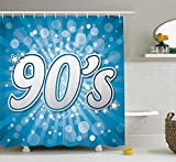 Best Maytex Curtain Rods - Shengpeng 90s Decorations Shower Curtain Set, 90's Letter Review