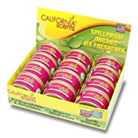 California Scents Spillproof Organic Air Freshener, Coronado Cherry, 1.5 Ounce (Pack of 12)