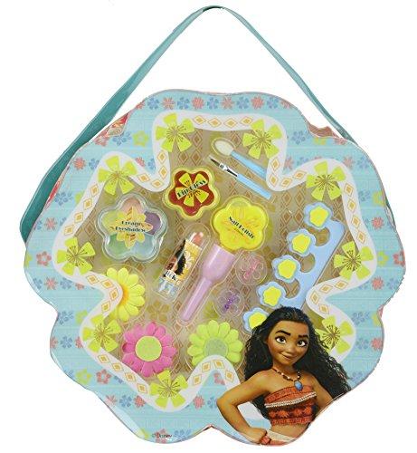 """Disney Vaiana Beauty-Set """"Discover Oceania"""", 17-teilig, in Tasche in Blütenform, Geschenk für Mädchen"""