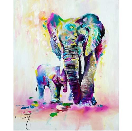 ElefantesDiamantes de Cuadrado Completo Pintura Diamante Pintura de Pared Decoración Hecha A...