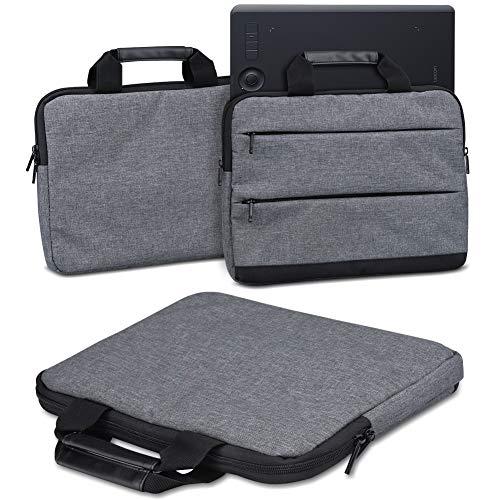 Schutzhülle für Wacom Intuos Pro L PTH-860 Grafiktablett Tasche Sleeve Case Stifttablett Hülle in Grau oder Blau Tragetasche mit Griffen Universal Schutztasche, Farbe:dunkel Grau