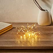 Amazon Brand - Solimo 5 Metre 50 LED Copper String Light for Decoration, USB Powered, Warm White