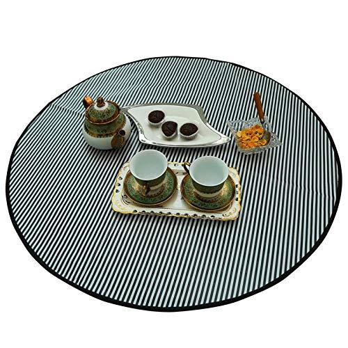 Marine Pearl Bed Server Food Mat Oil & Waterproof (Round) (Black& White)