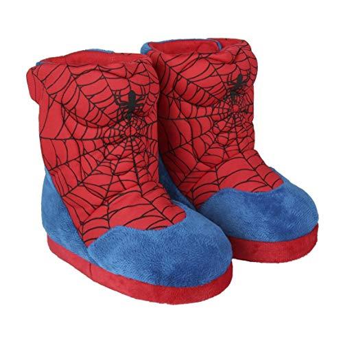 Cerdá Zapatillas De Casa Bota Spiderman, Niños, Rojo Rojo C06, 31/32 EU