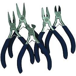 Tec Hit 170505 Lot 5 mini pinces coupante, Noir