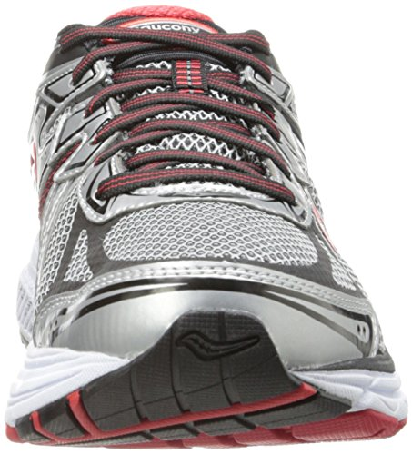 Saucony Men's Omni 13 Running Shoe,Silver/Red/Black,11.5 W US Silver / Red / Black