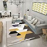 CHAI Wohnzimmer Dekorative Teppich Bodenmatte Europäischen Einfachen Stil 3D Druck Rechteckigen Teppich Schlafzimmer Rutschfeste Teppich Geometrische Muster Kinderteppich Teppich Teppiche