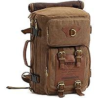 S-ZONE Utilit¨¤ militare in pelle Vintage tela di borse a tracolla del messaggero degli uomini