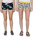 Pepperika Printed Cotton Shorts (Pack Of...