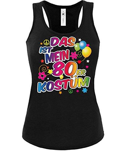 Golebros 80er Kostüm 1852 Kleidung Karneval Fasching Faschingskostüm Karnevalskostüm Paarkostüm Gruppenkostüm Damen Frauen Tank Top Schwarz ()