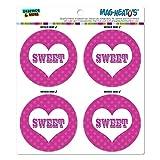 Graphics and More Sweet Heart Polka Dots Hochzeit Brautschmuck Valentines Love Mag-Neato 's-TM Automotive Car Kühlschrank Locker Vinyl Magnet Set
