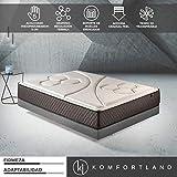 Komfortland Colchón de muelles ensacados Memory Vex Spring con 5 cm de ViscoProgression Grafeno, Altura 27 cm, de 90x200 cm