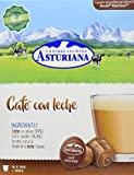 Central Lechera Asturiana Cápsulas de Café con Leche - 4 Paquetes de 16 Cápsulas - Total: 64...
