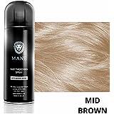 Mane Coloured Hair Thickening Spray MID BROWN 200ml