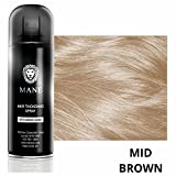 Mane Coloured Hair Thickening Spray MID BROWN 200ml