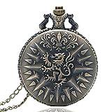 TMF Taschenuhr, Vintage-Design, Bronze, Drachen-Anhänger, Taschenuhr, Geschenk für Herren