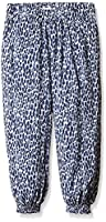 3Pommes Girl's Cargo Animal Print Trousers, Blue (Bleu Nuit), 4-5 Years