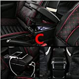QFWCJ Per Scatola braccioli Renault Clio Captur Scatola contenuti Centrale con posacenere portabicchieri con interfaccia USB