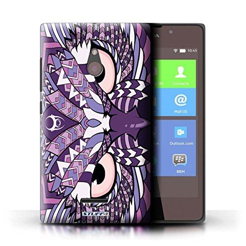 Kobalt® Imprimé Etui / Coque pour Nokia XL / Tigre-Rouge conception / Série Motif Animaux Aztec Hibou-Pourpre