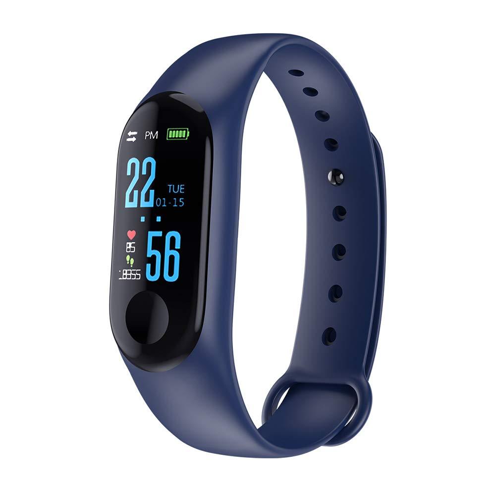 Fitness Tracker - Reloj de pulsera inteligente, deportivo, para presión arterial y frecuencia cardiaca, color negro 1