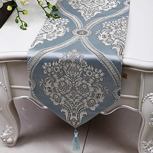 JZX Home Tischläufer, Hotel Restaurant Tischdecken, Tischläufer American Style Tischset Esstisch Couchtisch Stoff Bett Flagge,Blau,33 × 300 cm - Mittlere Rechteckige Couchtisch