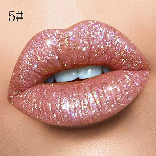 MODEOR Waterproof Long Lasting Liquid Velvet Matte Lipstick Makeup Lip Gloss London Exaggerate Eyeliner Cosmetics Me Up Non-Stick Cup Not Fade Colour Glamorous Halloween Tools Gift Hydrating (5#) -