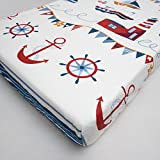 Baby Cot Cotton Fitted Sheet 120x60 cm, Fits Cot - Pattern 16