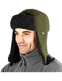 ProClimate de hombre de piel de tejido de forro polar gorro con orejeras térmico en forma de calentador de membrana impermeable de invierno de