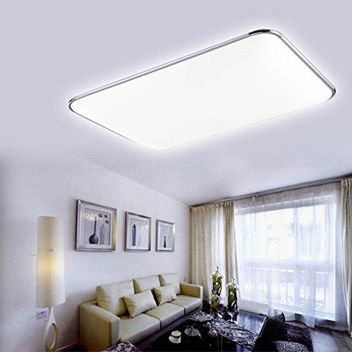 Hengda® 48W Ultra mince Plafonnier LED Blanc Froid Lampe Moderne Lampe de  Plafond pour salon Cuisine chambre à coucher Hôtel