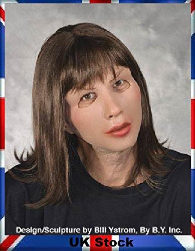 (Zagone Studio weiblich Latex Maske mit Perücke Weich und sexy UK Lager)