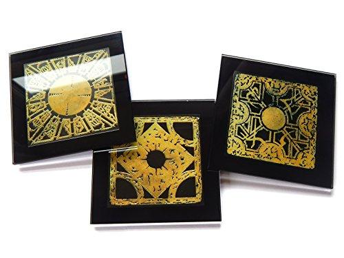 Hellraiser Puzzle Box Set of 3Premium Glas Tisch Untersetzer mit Geschenk Boxen (Tischsets Zum Verkauf)
