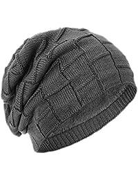 axelens Gorro invernal unisex de punto caliente interior en poliéster de  lana suave deportivo y elegante 242200d8c82