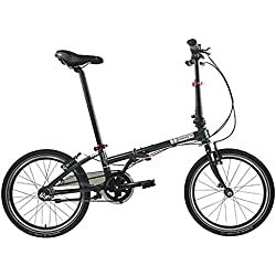 Dahon bicicleta plegable Tarjeta Walk i3, 3marchas 20pulgadas Military Green bicicleta plegable acero Star Tenedor, sin 942096