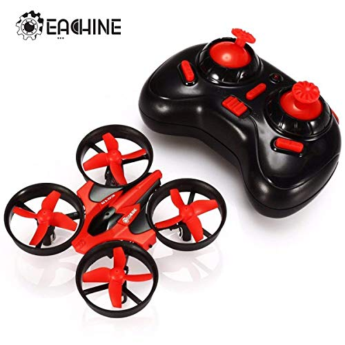 EACHINE E010 Mini UFO, Quadricottero Droni per Bambini, Rosso