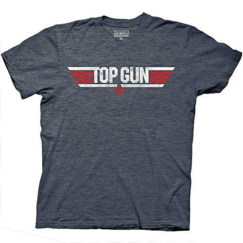 Top Gun Logo Maverick Adult Heather Navy T-Shirt